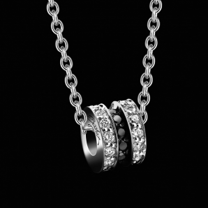 Women's pendant Scroll in Love small model