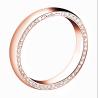 Rose gold wedding ring for men