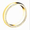 Yellow gold wedding ring for women