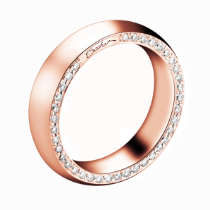 Wedding ring for women in rose gold and diamonds