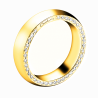 Alliance de mariage pour femme en or jaune et diamants