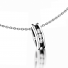 White and black diamonds necklace