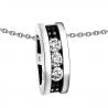 Pendant set with 3 white diamonds of 0.30 carat totaling 0.90 carat and black diamonds