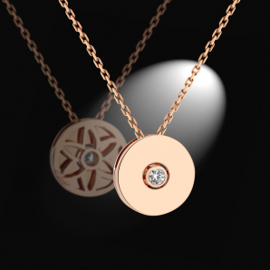 Women's pendant Monade in pink gold