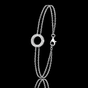 Bracelet femme DayLight Cercle en or et diamants blancs