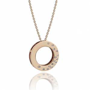 Pink gold necklace for women