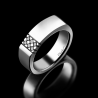 Men's signet ring Dandy platinum and black diamonds