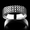 Men's signet ring Mystérieux platinum and black diamonds