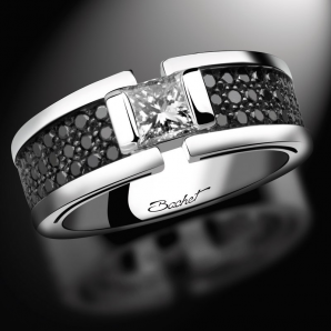 Solitaire wedding ring for women