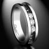 Bague Femme Trilogy platinum diamants blancs et diamants noirs