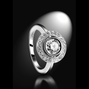 Luxury wedding solitaire ring