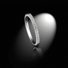 Wedding ring  in platinum and white diamonds