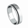 Men's wedding ring Sweet Side of Love platinum and black diamonds