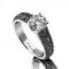 Luxury solitaire engagement ring