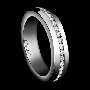 Alliance Femme A Way to Love platine et diamants blancs
