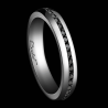 Men's wedding ring A Way to Love platinum and black diamonds