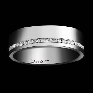 Alliance Femme Sweet Side of Love platine et diamants blancs