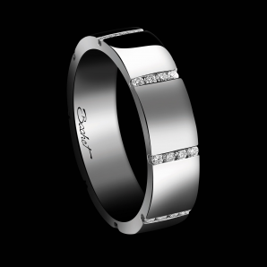 Women's wedding ring A Bridge to Unity platinum and white diamonds