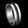 Alliance Homme Sense of Light platine et diamants noirs