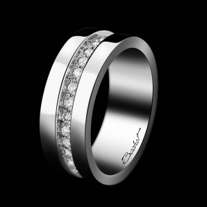 Alliance Femme Sense of Light platine et diamants blancs