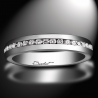 Women's wedding ring A Way to Love platinum and white diamonds