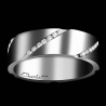 Women's wedding ring Wrapped in Love platinum and white diamonds
