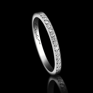 Alliance Femme Light of Love platine et diamants blancs