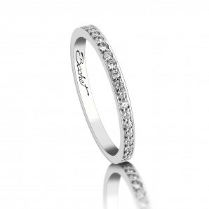 White diamonds wedding ring