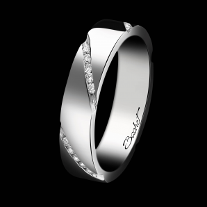 Alliance Femme Wrapped in Love platine et diamants blancs