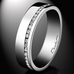 Women's wedding ring Sweet Side of Love platinum and white diamonds