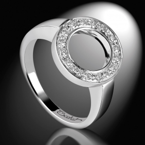 Bague Femme DayLight Cercle platine diamants blancs