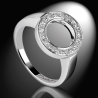 Women's ring in platinum and white diamonds