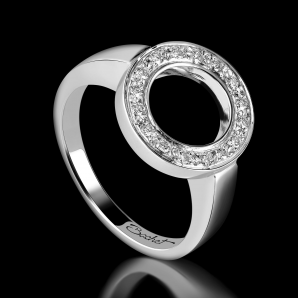 Women's ring DayLight Cercle platinum white diamonds