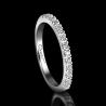 Women's wedding ring Passion platinum and white diamonds