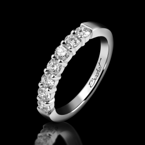 Women's wedding ring Elegance platinum and white diamonds