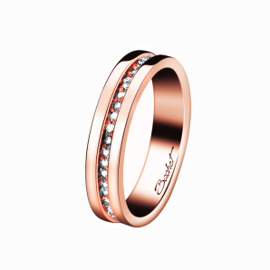 Luxury rose gold wedding ring