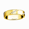Luxury wedding ring for women in yellow gold