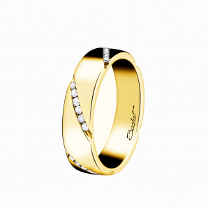 Wedding ring for women in yellow gold