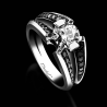 Engagement ring BlackLight Sweet white diamond