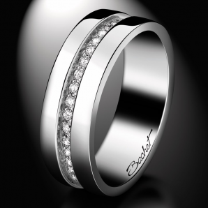 White diamond wedding ring for women