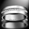 Women's wedding ring Sense of Light platinum and white diamonds