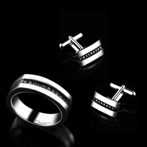 Black diamonds jewellery for men